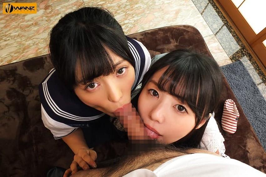 【姉妹丼エロ画像】美少女姉妹が二人同時にフェラや手コキして3Pでおまんこサンドしてくれる姉妹丼のエロ画像集!ww【80枚】