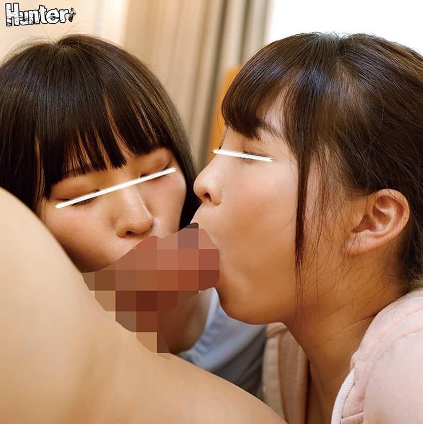 【姉妹丼エロ画像】美少女姉妹が二人同時にフェラや手コキして3Pでおまんこサンドしてくれる姉妹丼のエロ画像集!ww【80枚】 77