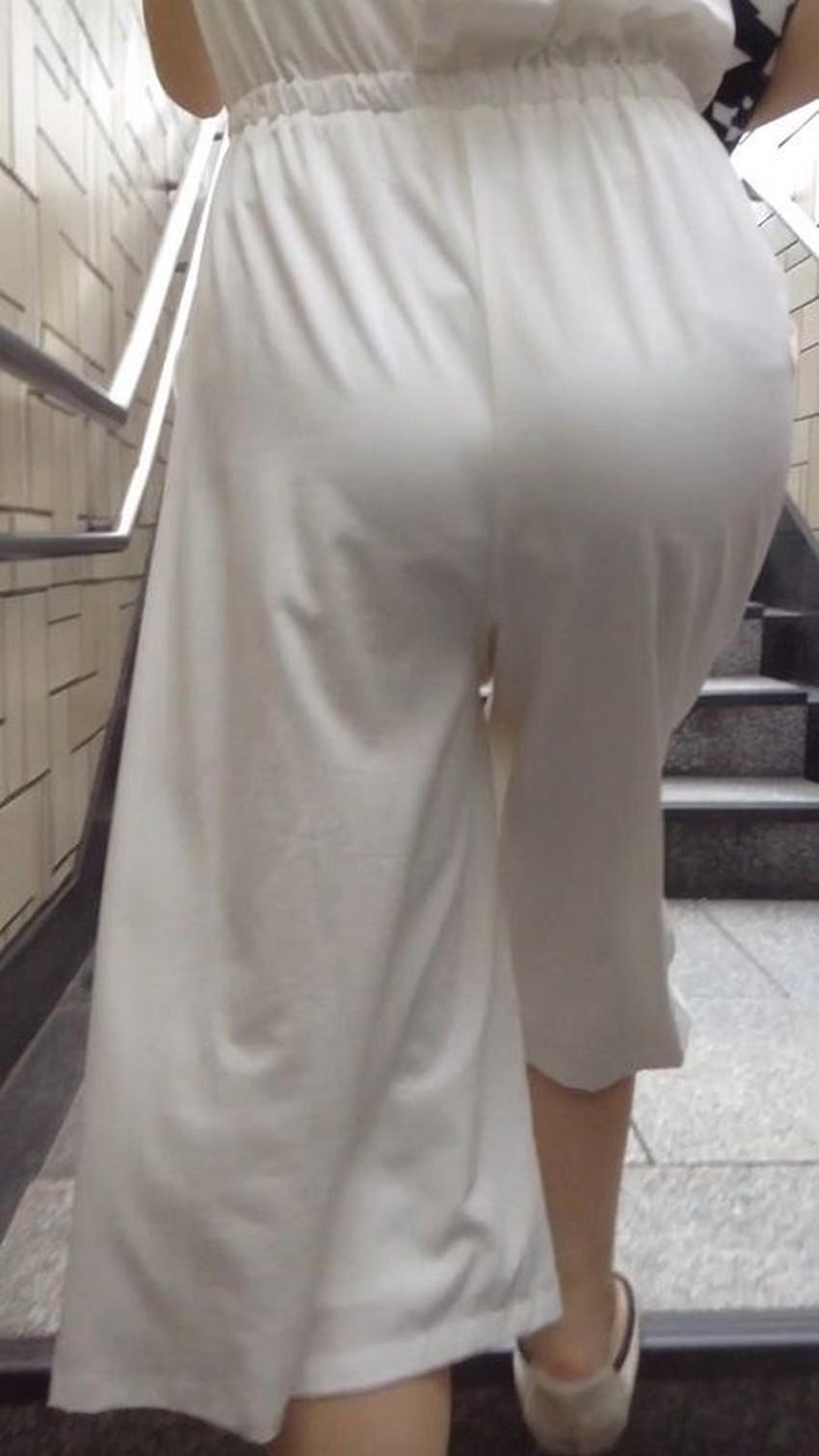 【ガウチョパンツエロ画像】街中で透けパンやパンティーラインが盗撮できちゃうガウチョパンツのエロ画像集ww!w【80枚】 15