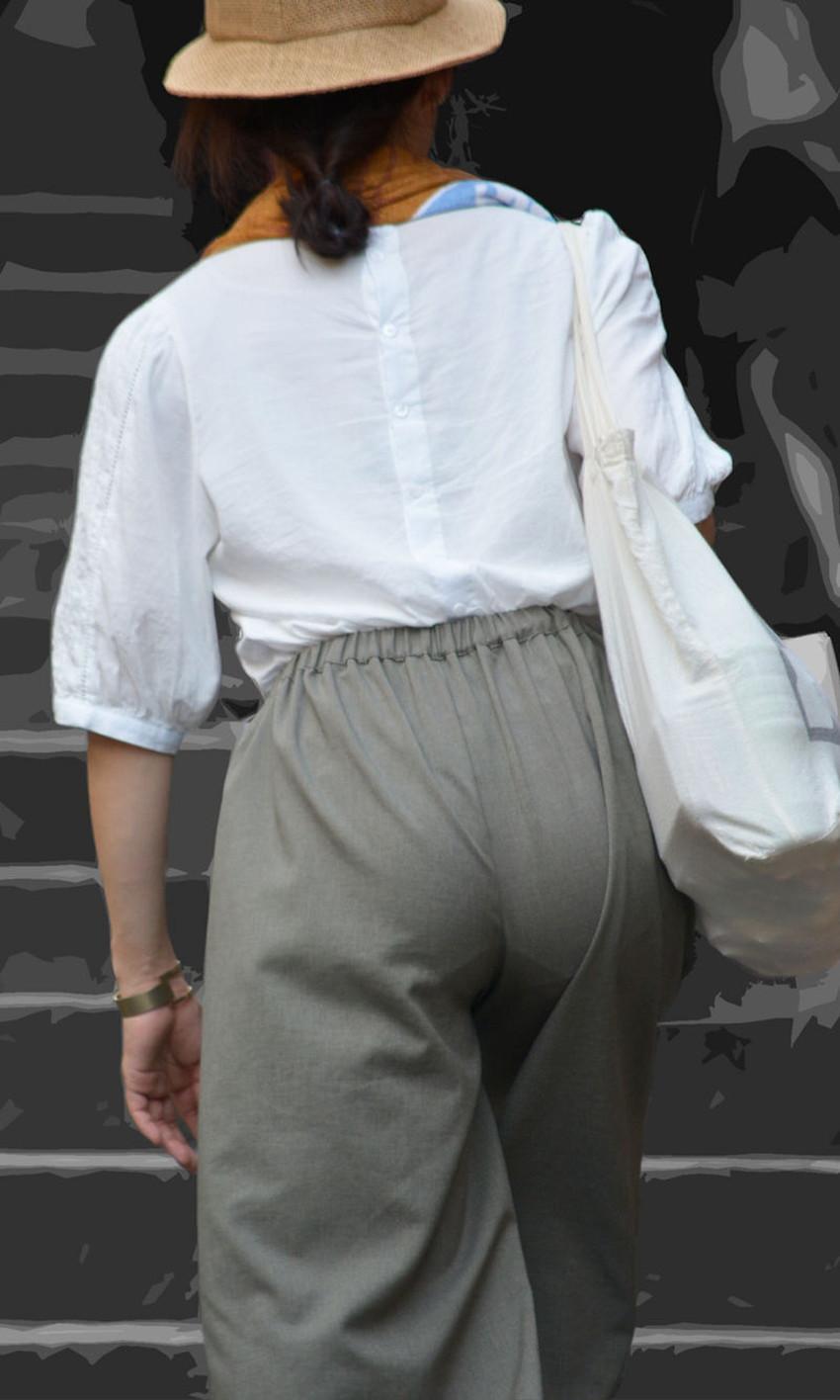 【ガウチョパンツエロ画像】街中で透けパンやパンティーラインが盗撮できちゃうガウチョパンツのエロ画像集ww!w【80枚】 26