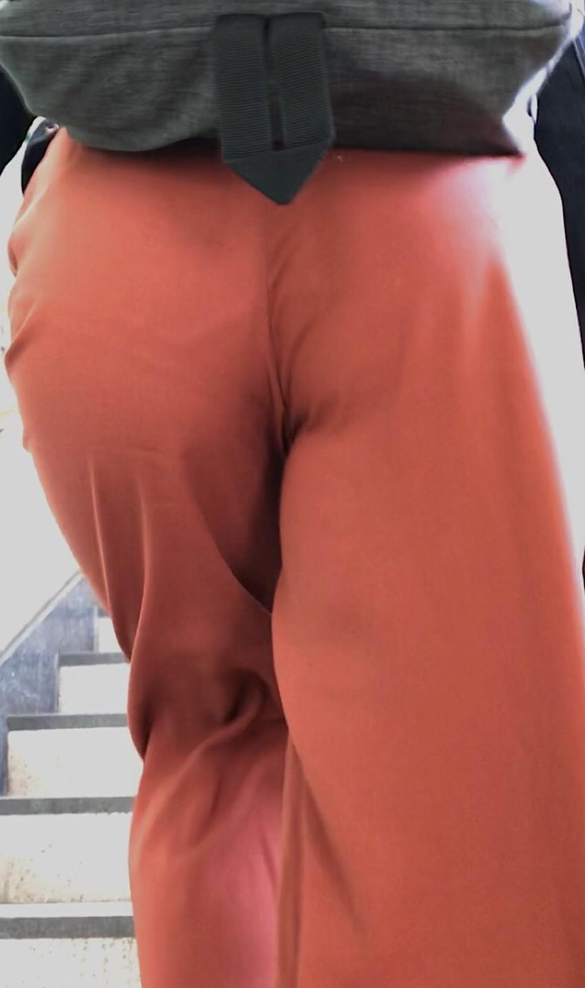 【ガウチョパンツエロ画像】街中で透けパンやパンティーラインが盗撮できちゃうガウチョパンツのエロ画像集ww!w【80枚】 34