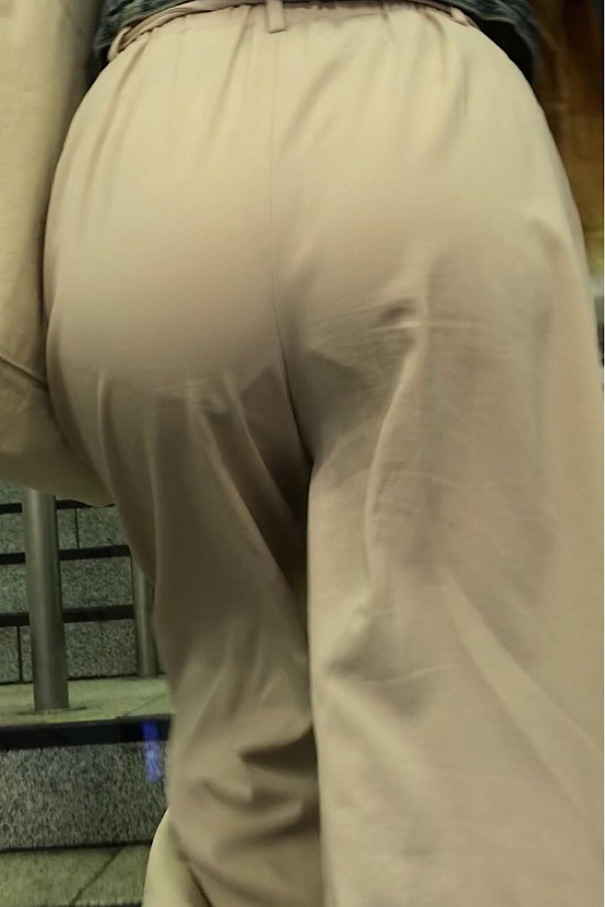 【ガウチョパンツエロ画像】街中で透けパンやパンティーラインが盗撮できちゃうガウチョパンツのエロ画像集ww!w【80枚】 50