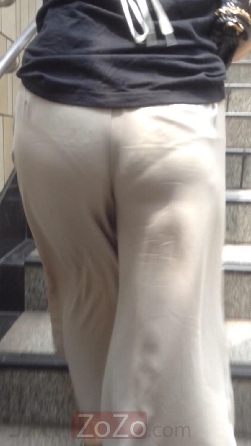 【ガウチョパンツエロ画像】街中で透けパンやパンティーラインが盗撮できちゃうガウチョパンツのエロ画像集ww!w【80枚】 53