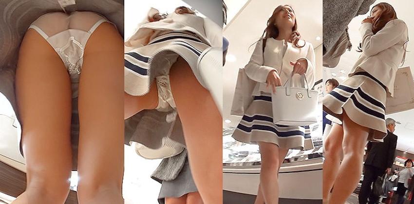 【逆さ撮りパンチラエロ画像】街中で美少女やキレイなお姉さんのスカート内をこっそり隠し撮りした逆さ撮りパンチラのエロ画像集!ww【80枚】 44