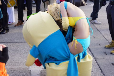 【着ぐるみエロ画像集】ロリフェイスな美少女達が着ぐるみでケモミミとおっぱいとおまんこをチラ見せさせてくれたら死んでもイイ!ww 31