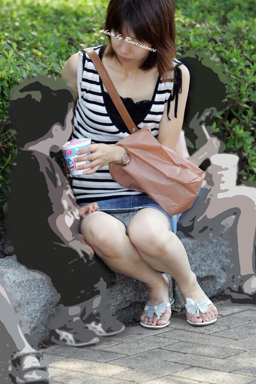 【人妻パンチラエロ画像】他人の妻のパンチラを目撃してプチNTR気分になれる人妻パンチラのエロ画像集!ww【80枚】 40