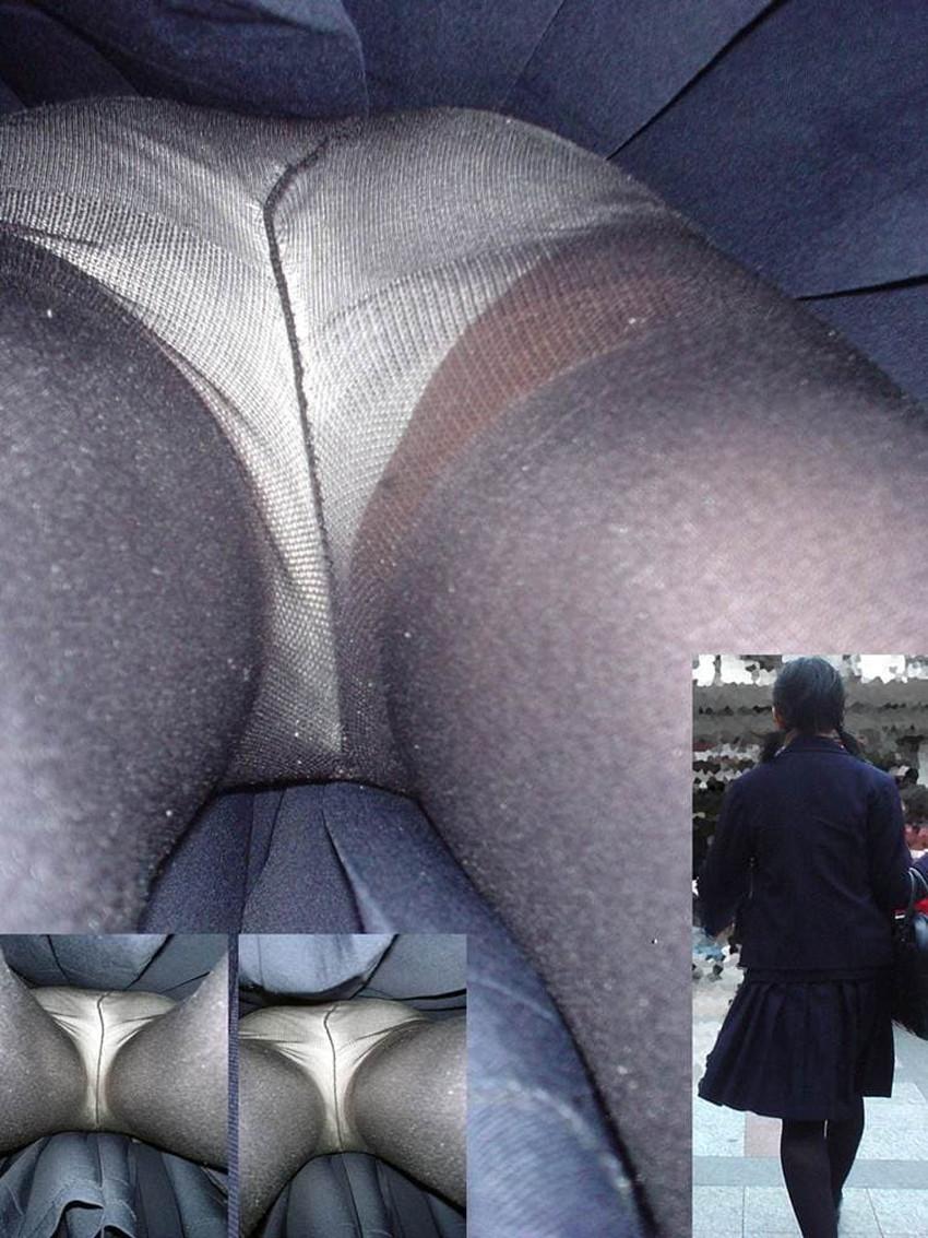 【黒タイツJKエロ画像】秋冬は黒タイツJKのストッキング越しパンチラを拝むに限る!黒タイツJKのエロ画像集w【80枚】 77