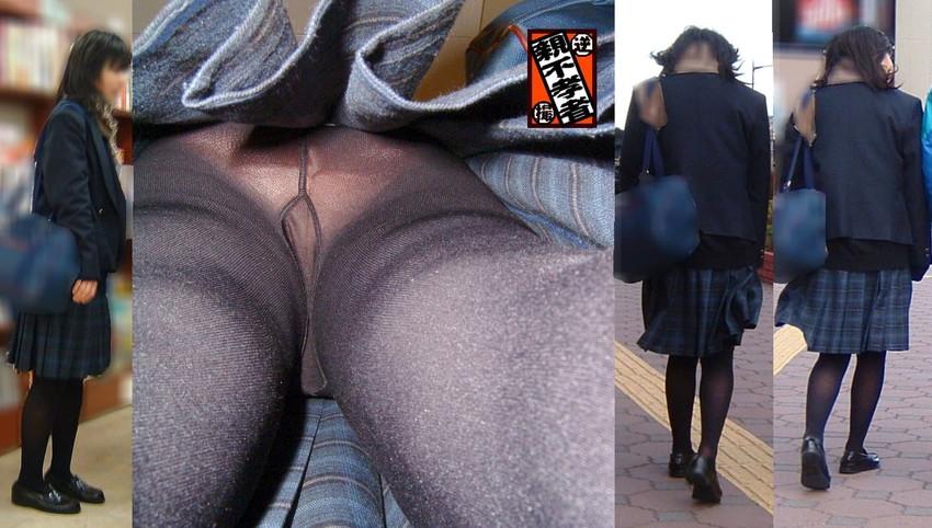 【黒タイツJKエロ画像】秋冬は黒タイツJKのストッキング越しパンチラを拝むに限る!黒タイツJKのエロ画像集w【80枚】 78