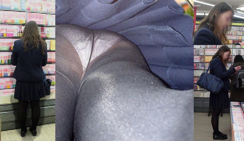 【黒タイツJKエロ画像】秋冬は黒タイツJKのストッキング越しパンチラを拝むに限る!黒タイツJKのエロ画像集w【80枚】 80