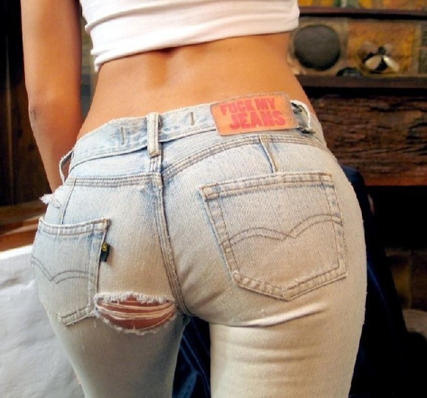 【ダメージジーンズエロ画像】ダメージすご過ぎて素人娘のパンティーが見えちゃってるダメージジーンズのエロ画像集!ww【80枚】 45