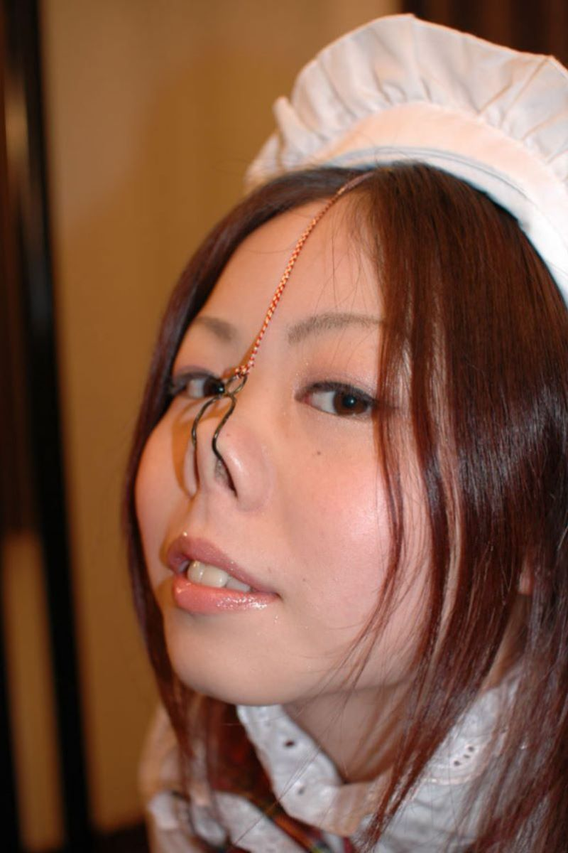 【鼻フックエロ画像】超美形なS級お姉さんも鼻フックでドMなブスビッチに!ww鼻フックでアヘ顔のメス豚調教されちゃってる鼻フックエロ画像集ww 26