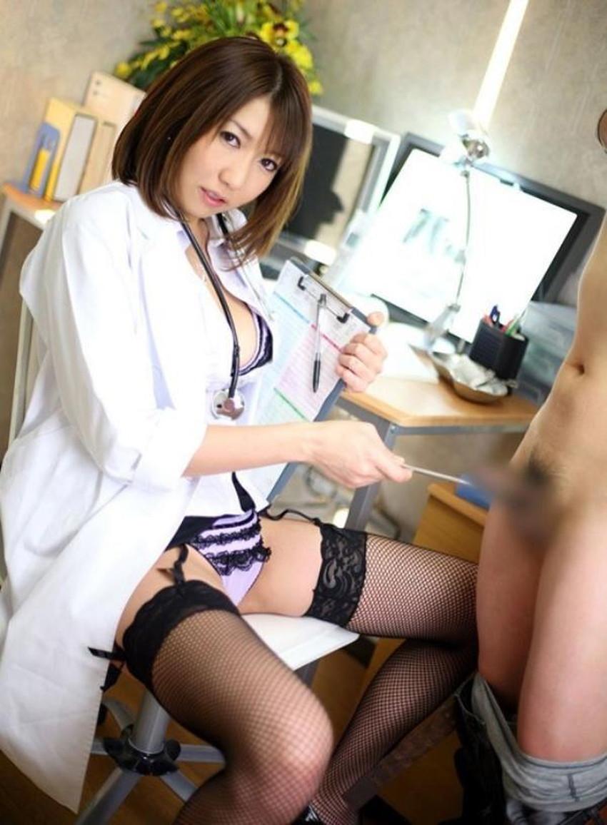 【女医コスプレエロ画像】ビッチな女ドクターがガーターベルトを見せつけながらセックス治療してくれてる女医コスプレのエロ画像集!ww【80枚】 61