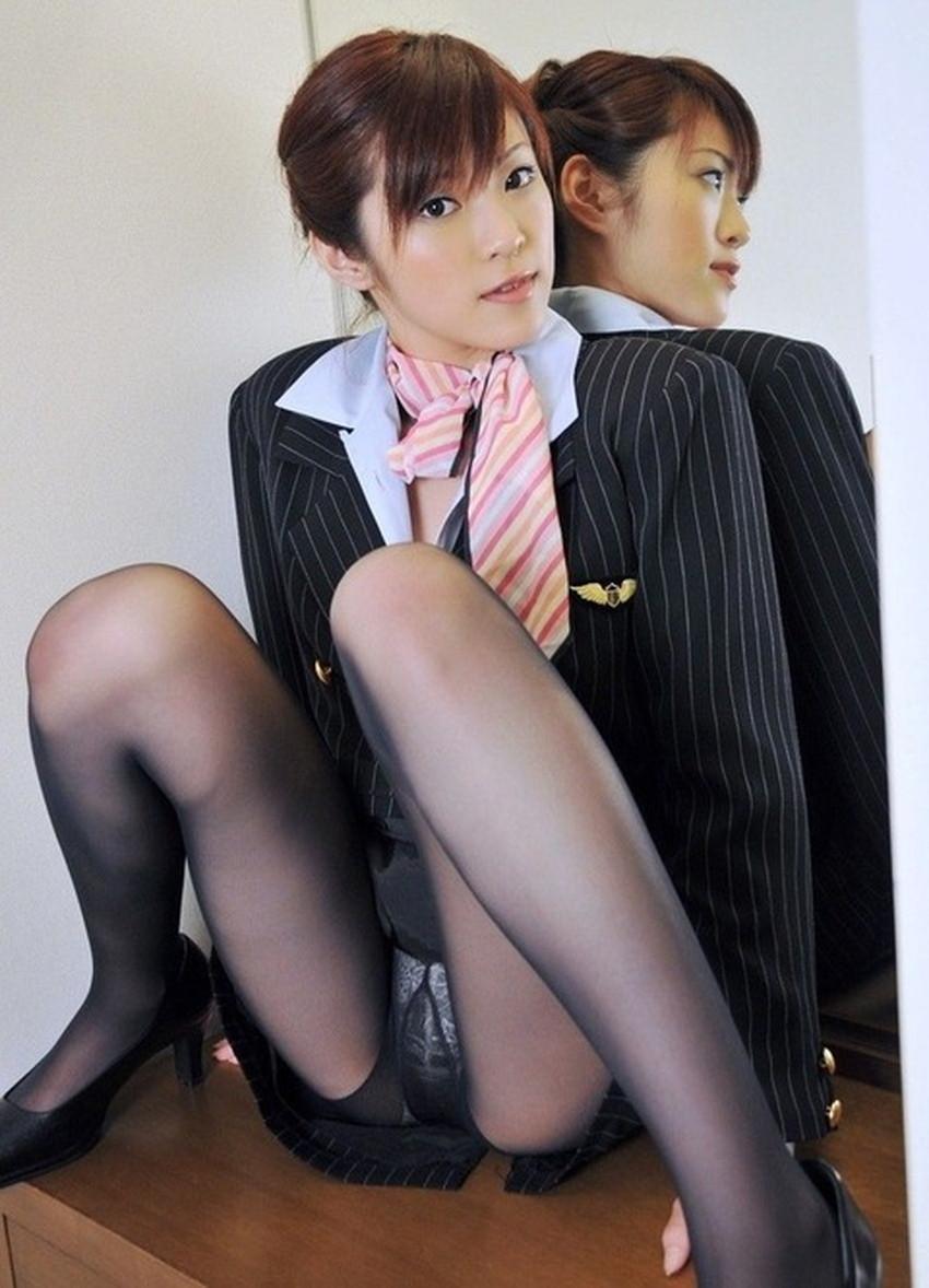 【CAコスプレエロ画像】CAコスプレで憧れの美人スチュワーデスと着衣セックス!美乳を揉んでパンスト破りしてるCAコスプレのエロ画像集!ww【80枚】 53