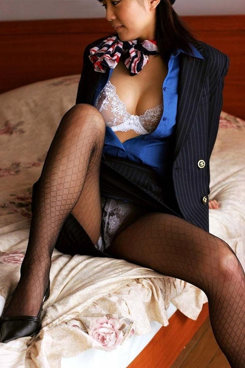 【CAコスプレエロ画像】CAコスプレで憧れの美人スチュワーデスと着衣セックス!美乳を揉んでパンスト破りしてるCAコスプレのエロ画像集!ww【80枚】 55
