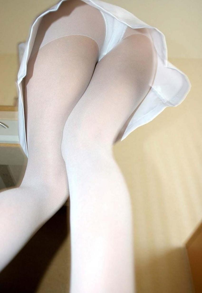 【白パンストエロ画像】ナースやバレリーナの定番アイテム白パンストに興奮して股間に顔面を突っ込みたくなる白パンストのエロ画像集!ww【80枚】 75