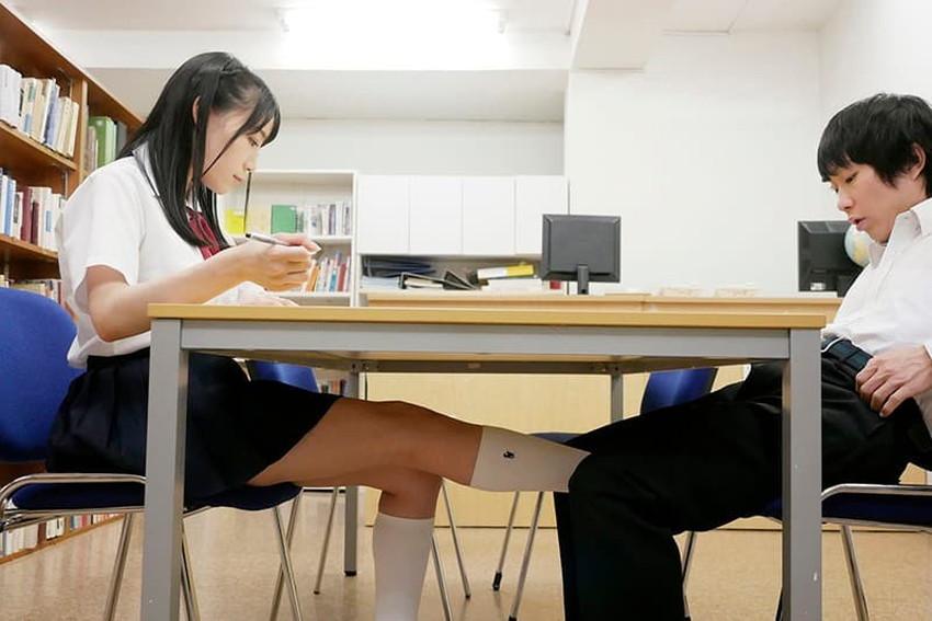 【図書室セックスエロ画像】図書室で禁断のセックス!本棚裏でJKの制服めくって優等生まんこにブチ込んでる図書室セックスのエロ画像集!ww【80枚】 59