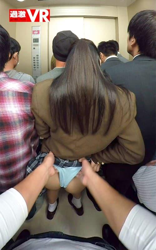 【エレベーターエロ画像】エレベーターが故障でストップしてJKやOLたちを痴漢レイプしちゃったエレベーターエロ画像集ww 09
