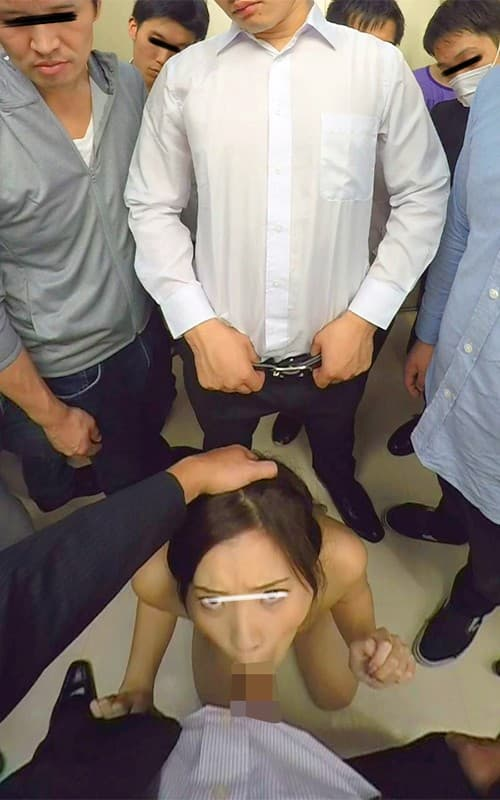 【エレベーターエロ画像】エレベーターが故障でストップしてJKやOLたちを痴漢レイプしちゃったエレベーターエロ画像集ww 28