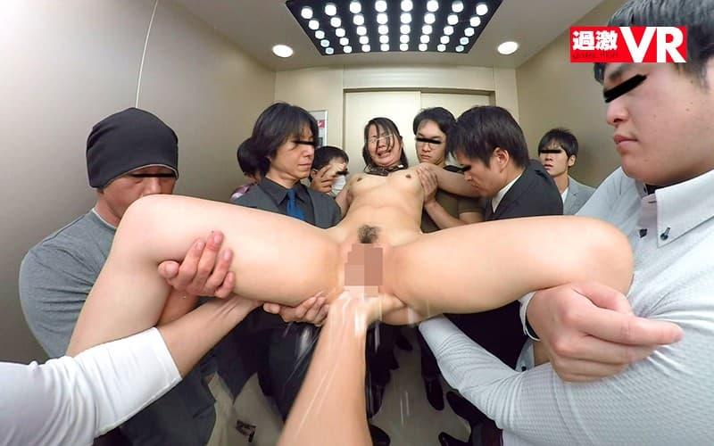 【エレベーターエロ画像】エレベーターが故障でストップしてJKやOLたちを痴漢レイプしちゃったエレベーターエロ画像集ww 44