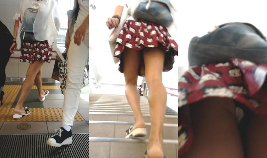 【階段パンチラエロ画像】素人女子の階段パンチラを盗撮する為にエレベーターは使わない!性欲解消と運動にもなる階段パンチラのエロ画像集!ww【80枚】 08