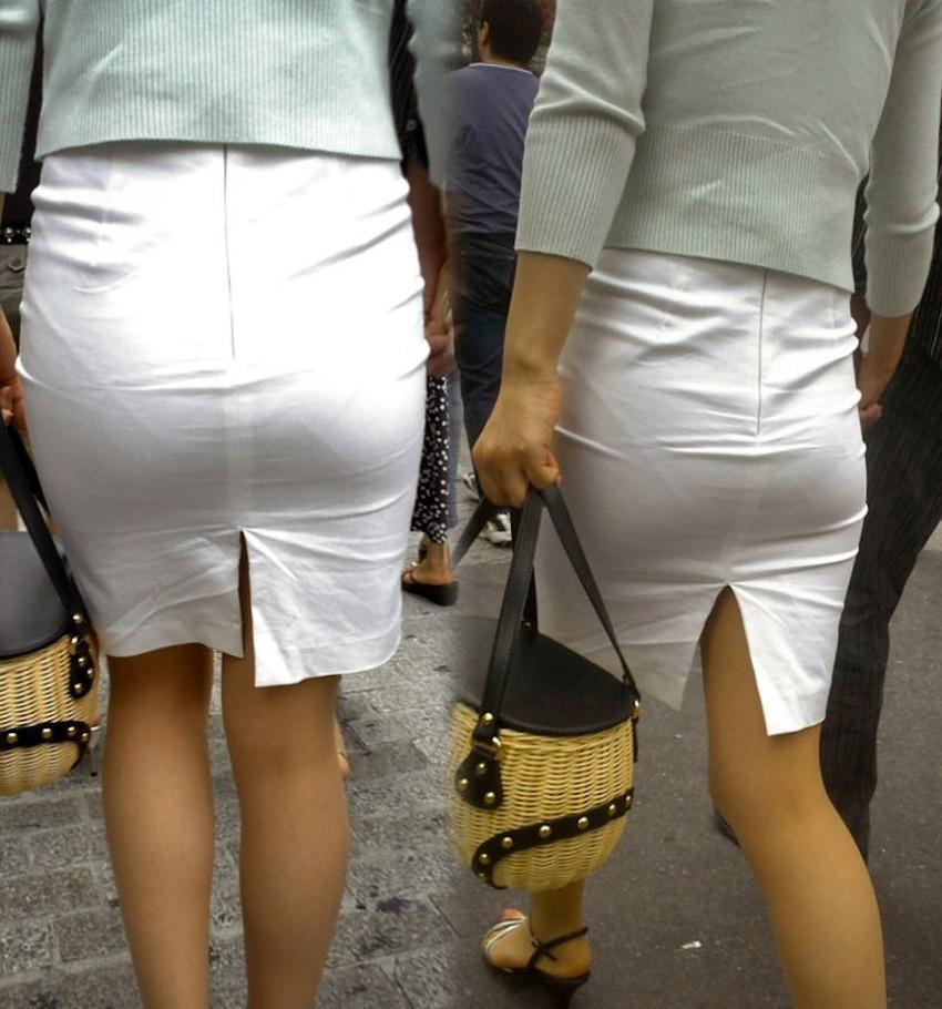 【パン透けスカートエロ画像】パンティーラインが透けちゃうタイトミニやマキシワンピで無防備に歩く美女達のパン透けスカートのエロ画像集!ww【80枚】 39