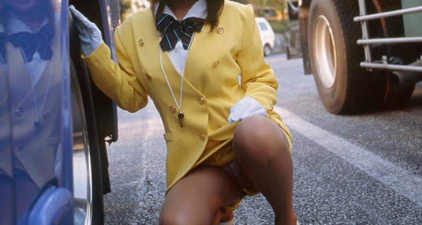 【バスガイドコスプレエロ画像】美人のバスガイドさんと制服姿で着衣セックスしてるバスガイドコスプレのエロ画像集!!【80枚】 06