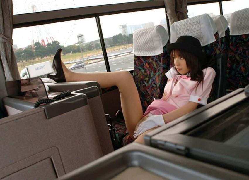 【バスガイドコスプレエロ画像】美人のバスガイドさんと制服姿で着衣セックスしてるバスガイドコスプレのエロ画像集!!【80枚】 15