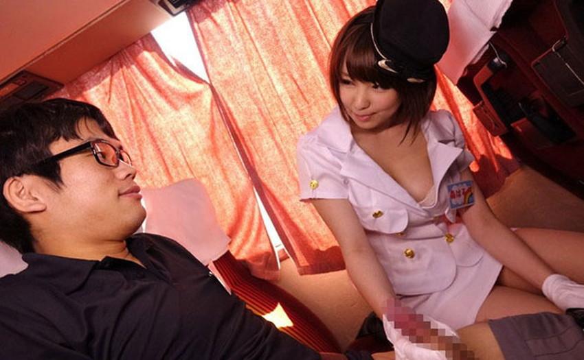【バスガイドコスプレエロ画像】美人のバスガイドさんと制服姿で着衣セックスしてるバスガイドコスプレのエロ画像集!!【80枚】 39