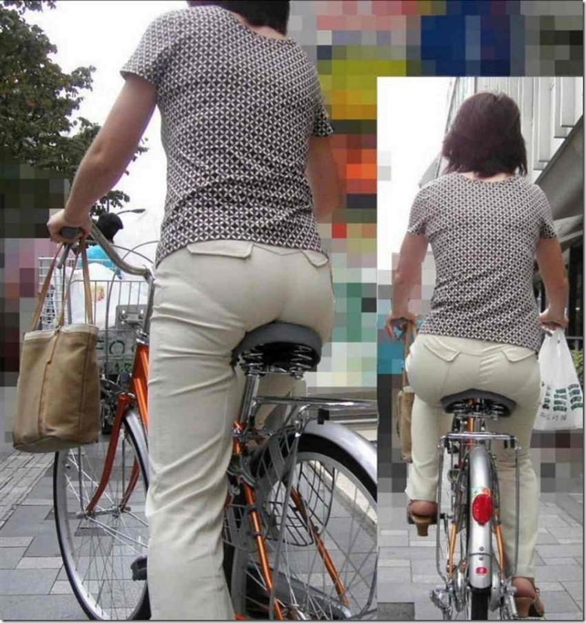 【自転車尻エロ画像】尻肉がサドルに食い込むチャリンコ女子をずっと見送っていられる自転車尻のエロ画像集!ww【80枚】 05