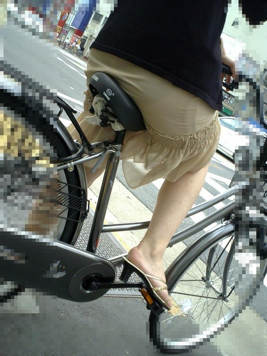 【自転車尻エロ画像】尻肉がサドルに食い込むチャリンコ女子をずっと見送っていられる自転車尻のエロ画像集!ww【80枚】 16