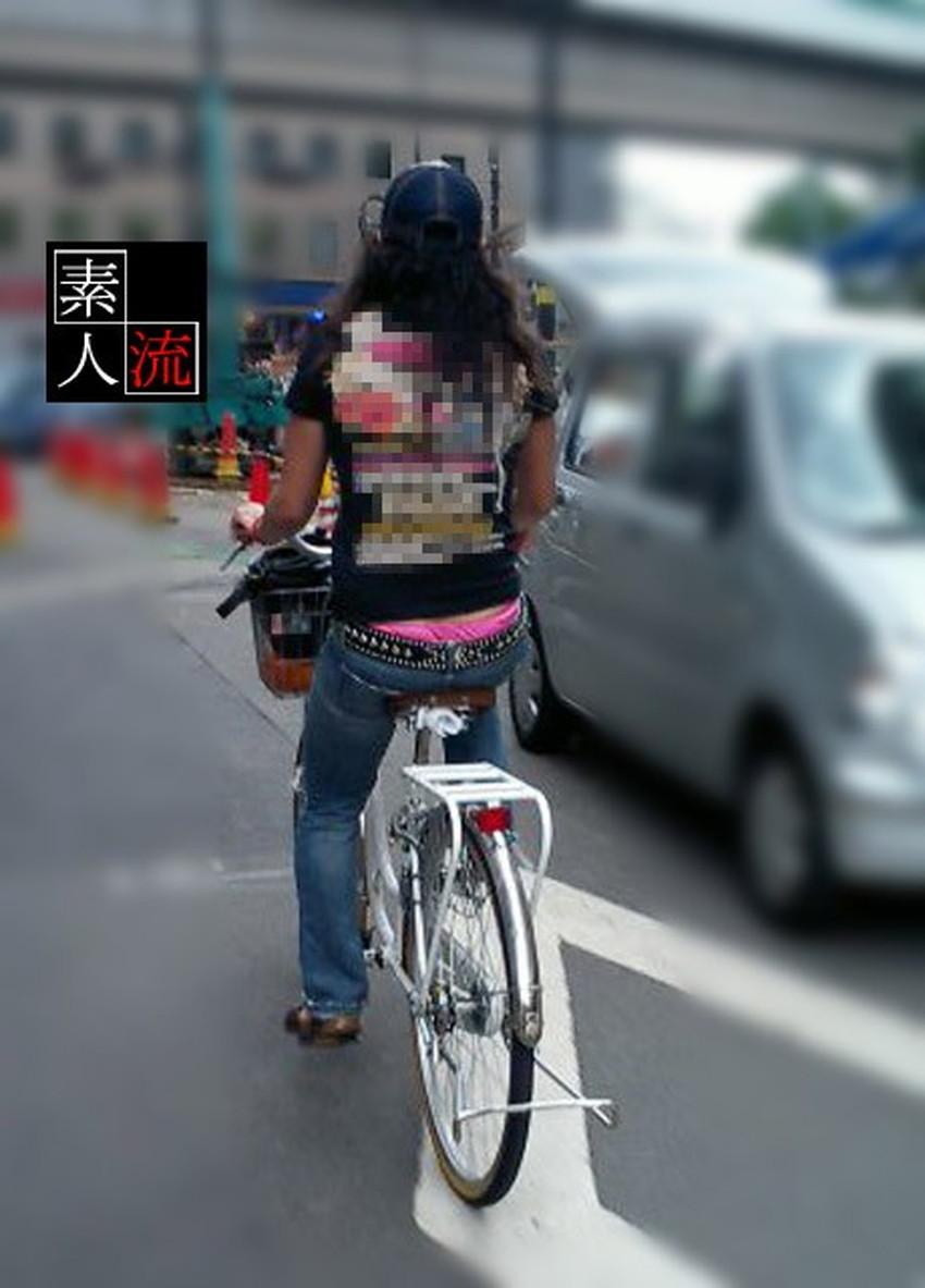 【自転車尻エロ画像】尻肉がサドルに食い込むチャリンコ女子をずっと見送っていられる自転車尻のエロ画像集!ww【80枚】 28