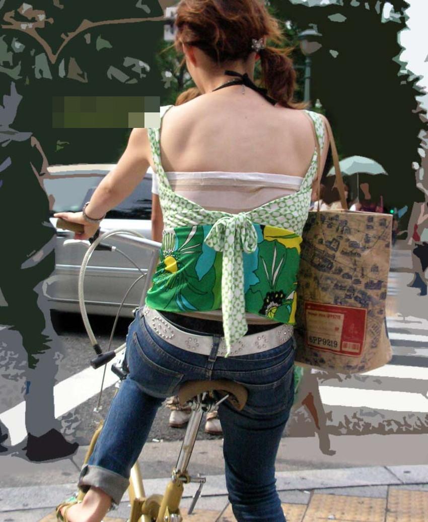 【自転車尻エロ画像】尻肉がサドルに食い込むチャリンコ女子をずっと見送っていられる自転車尻のエロ画像集!ww【80枚】 72