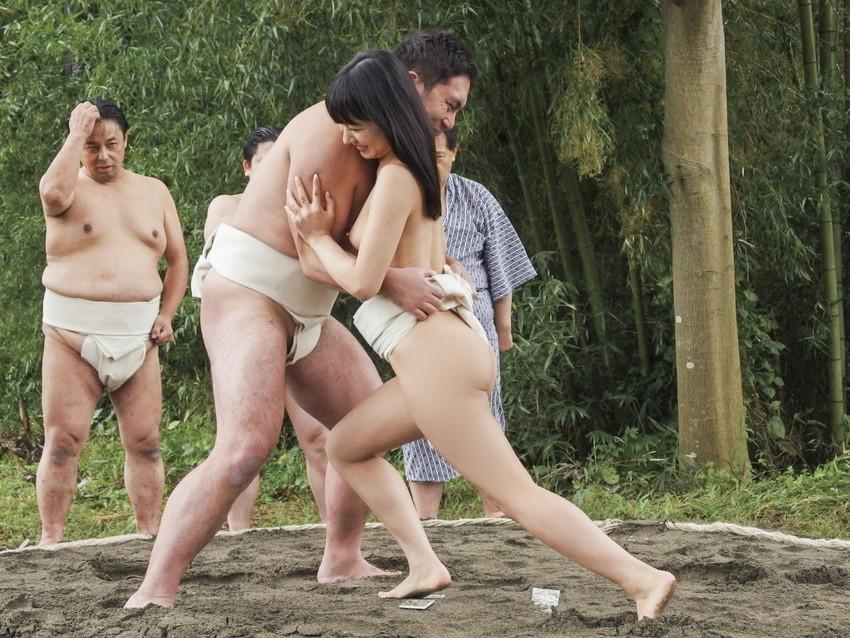 【女相撲エロ画像】美女やデカ尻人妻たちがふんどしを食い込ませてガチバトルする女相撲のエロ画像集!ww【80枚】 44