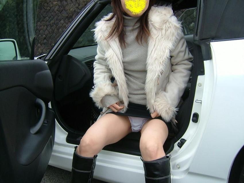 【ドライブデートエロ画像】ドライブデートで彼女やセフレと車内フェラやカーセックスしちゃったドライブデートのエロ画像集!ww【80枚】 54