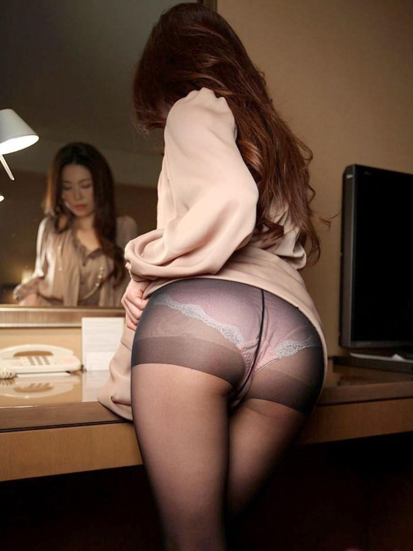 【薄いパンストエロ画像】パンティーと美脚が透け透けになってる薄いパンストのエロ画像集!ww【80枚】 38