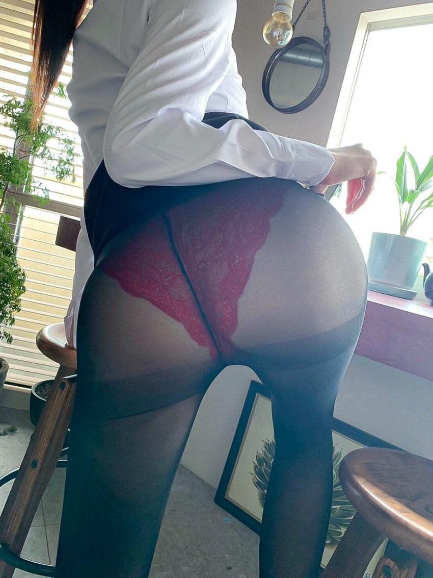 【薄いパンストエロ画像】パンティーと美脚が透け透けになってる薄いパンストのエロ画像集!ww【80枚】 50