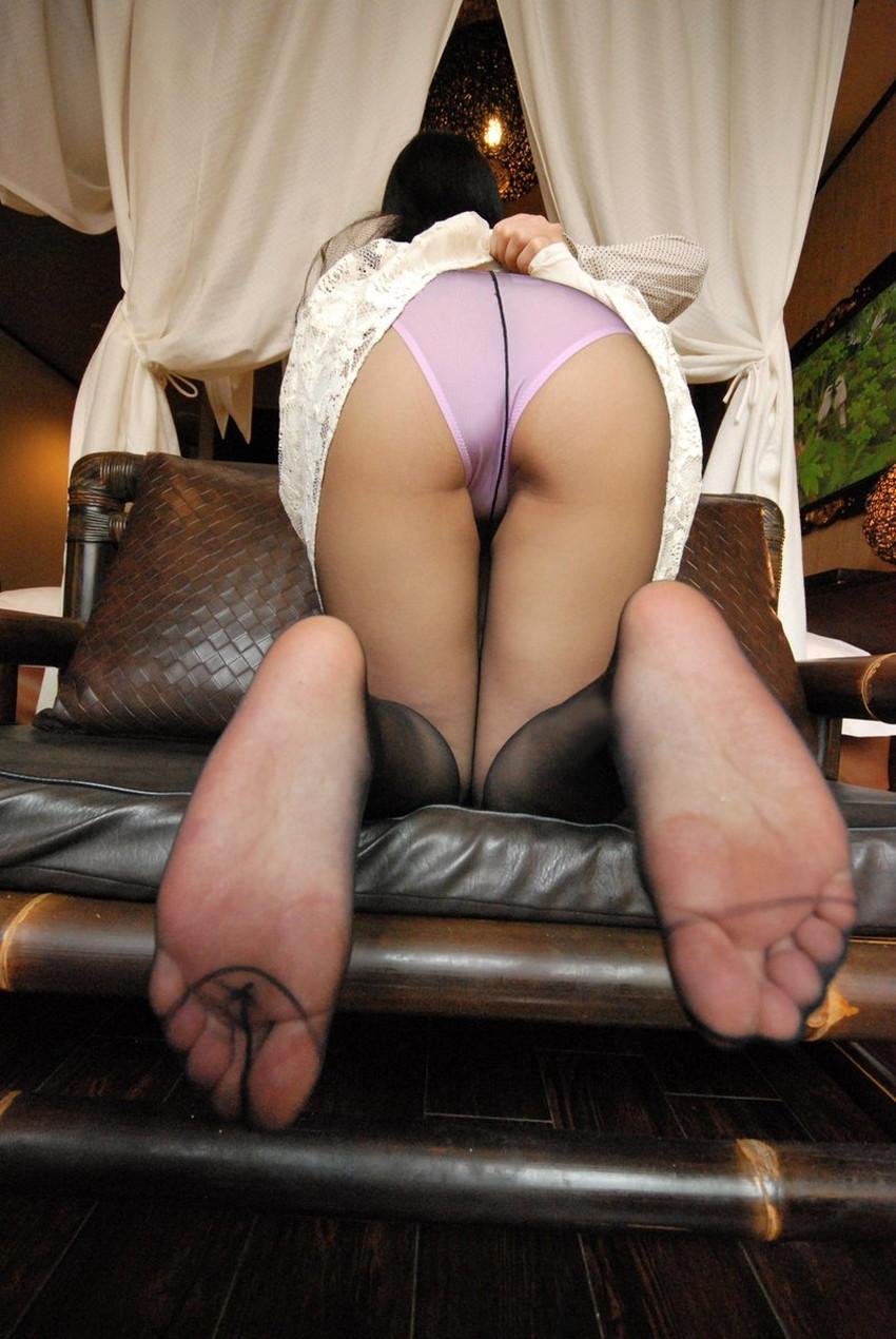 【薄いパンストエロ画像】パンティーと美脚が透け透けになってる薄いパンストのエロ画像集!ww【80枚】 58