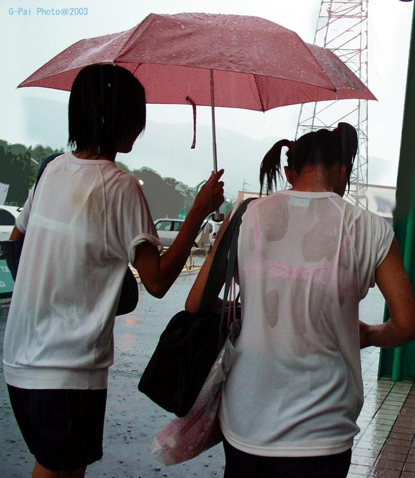 【濡れ透け下着エロ画像】シャワーや豪雨で下着まで透けて陰毛や乳首が丸見えになってる濡れ透け下着のエロ画像集!ww【80枚】 80
