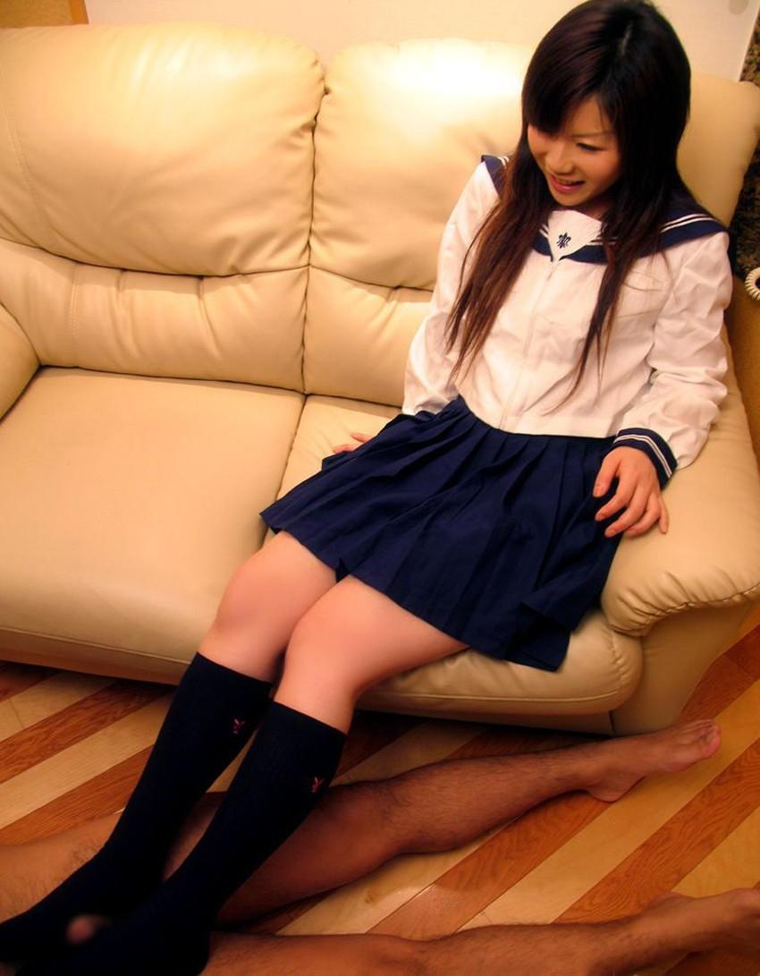 【ハイソックス女子エロ画像】清楚なイメージのハイソックスで美少女に足コキさせてザーメンぶっかけてるハイソックス女子のエロ画像集!ww【80枚】 42