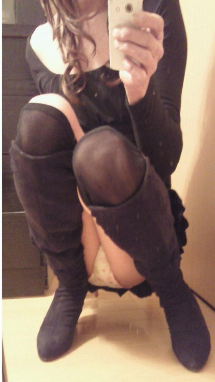 【パンチラ自撮りエロ画像】プチ露出狂の素人女子がパンチラを自撮りしてSNSで公開してるパンチラ自撮りのエロ画像集!ww【80枚】 54