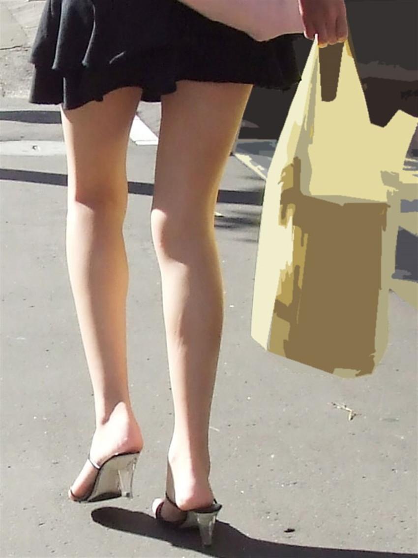 【生足女子エロ画像】ムチムチの太ももやふくらはぎがエロ過ぎる!パンスト無しで勝負する10代や20代の生足女子のエロ画像集!w【80枚】 43
