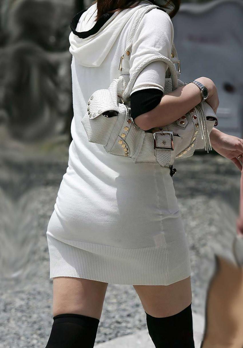 【ニットワンピエロ画像】ボディラインがはっきり分かるニットワンピで胸チラやパンティーラインを見せつけてくれるニットワンピのエロ画像集!w【80枚】 21