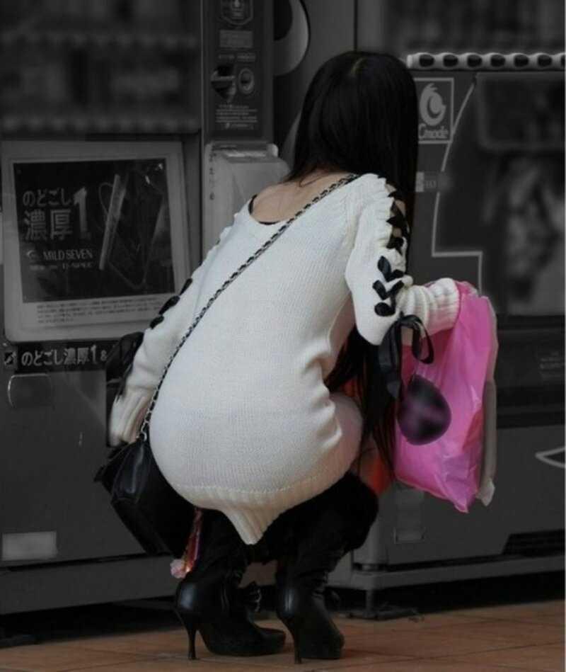 【ニットワンピエロ画像】ボディラインがはっきり分かるニットワンピで胸チラやパンティーラインを見せつけてくれるニットワンピのエロ画像集!w【80枚】 76