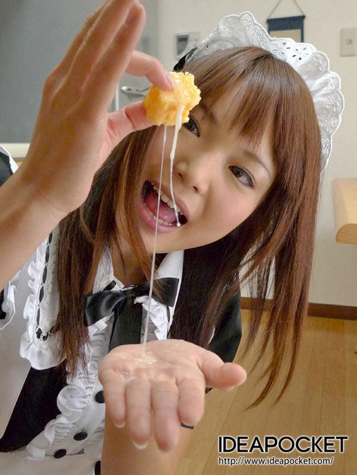 【食ザーエロ画像】精子大好き過ぎるビッチなロリ娘やお姉さんたちがザーメンを食べ物につけてごっくんしまくる食ザーエロ画像集!w【80枚】 62