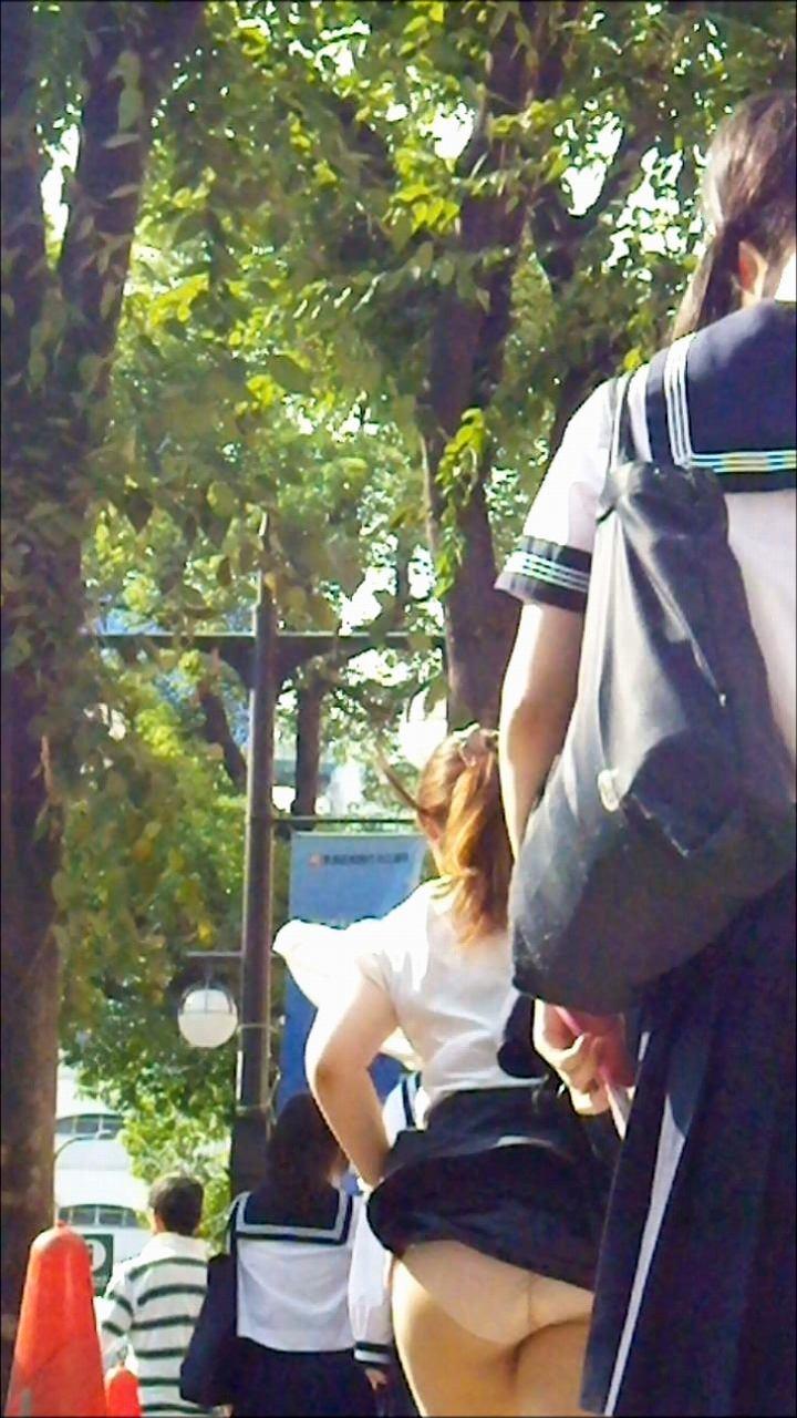 【風パンチラエロ画像】まさに神風!!登下校中の素人JKやスカートのお姉さんたちが風パンチラして盗撮されちゃってる風パンチラのエロ画像集ww【80枚】 71