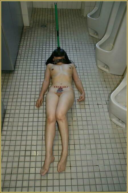 【公衆トイレエロ画像】肉便器調教大好きなビッチが公衆トイレでおねだりフェラして輪姦調教されちゃってる公衆トイレのエロ画像集ww【80枚】 14