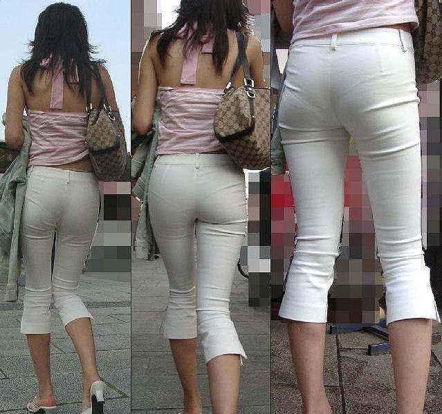 【パンティーラインエロ画像】素人美女のピタパンやタイトスカートから見えるパンティーラインを盗撮!美尻に顔面突っ込みたくなるパンティーラインのエロ画像集!ww【80枚】 02
