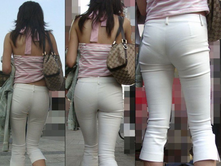 【パンティーラインエロ画像】素人美女のピタパンやタイトスカートから見えるパンティーラインを盗撮!美尻に顔面突っ込みたくなるパンティーラインのエロ画像集!ww【80枚】 05