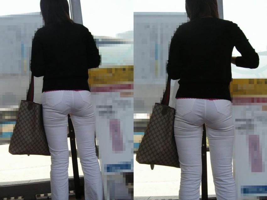 【パンティーラインエロ画像】素人美女のピタパンやタイトスカートから見えるパンティーラインを盗撮!美尻に顔面突っ込みたくなるパンティーラインのエロ画像集!ww【80枚】 10