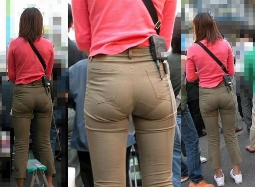 【パンティーラインエロ画像】素人美女のピタパンやタイトスカートから見えるパンティーラインを盗撮!美尻に顔面突っ込みたくなるパンティーラインのエロ画像集!ww【80枚】 12